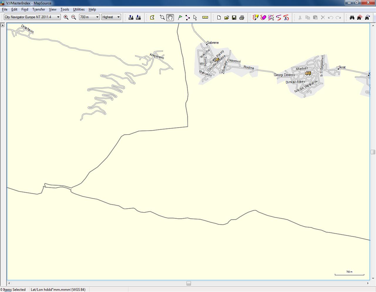 Bgtopovj vector topographic map of bulgaria and environs garmin city navigator europe nt biocorpaavc